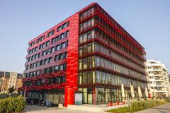 Modern Building of Coca Cola German Headquarter Berlin Stock Photos