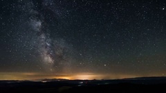 Time lapse of milky way galaxy. Stars moving in starry night Stock Footage