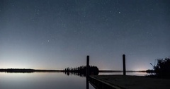 Motion Time-lapse of Stars at Elk Island Park near Edmonton, Alberta Stock Footage