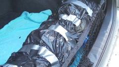 Dead body in trunk corpse murder mafia Stock Footage
