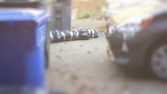 Dead body outside in street mafia Stock Footage