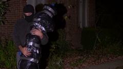Dead Body moving a dead body corpse murderer Stock Footage