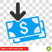 Get Banknotes Vector Eps Icon Stock Illustration
