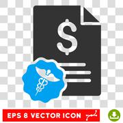 Medical Invoice Vector Eps Icon Stock Illustration