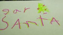 Dear Santa kids christmas letter Stock Footage