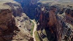 Colorado river canyon Stock Footage
