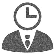Time Manager Grainy Texture Icon Stock Illustration