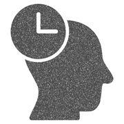 Time Thinking Grainy Texture Icon Stock Illustration
