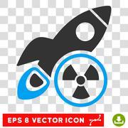 Atomic Rocket Science Vector Eps Icon Stock Illustration