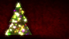 Christmas tree of triangles. Loop from 5:00-20:00. Red version, on left side. Stock Footage