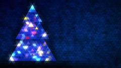 Christmas tree of triangles. Loop from 5:00-20:00. Blue version, on left side. Stock Footage