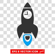 Space Rocket Time Vector Eps Icon Stock Illustration