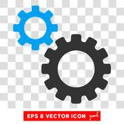 Transmission Gears Vector Eps Icon Stock Illustration