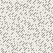 Vector Seamless Black and White Diagonal Dashed Lines Rain Pattern Stock Illustration
