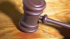 Gavel judge court order Stock Footage