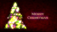 Christmas tree of triangles. Loop from 5:00-20:00. Red Merry Christmas version. Stock Footage