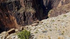 Colorado river canyon cliff Stock Footage