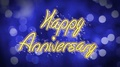 Happy Anniversary creative congratulation message, celebration, blue background 4k or 4k+ Resolution