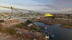 Amsterdam North, aerial footage Stock Footage