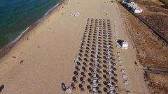 Flight filming over the beach Falesia Stock Footage