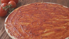 Rotating Pizza display Stock Footage