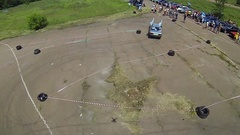 Two cars on slalom track Stock Footage