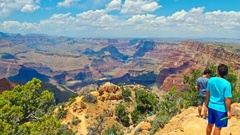 View of Grand Canyon rim in Arizona Stock Footage