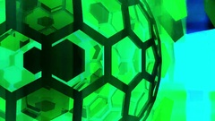 Hexxa visuals turning sphere rand movement shapes close up Stock Footage