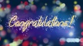 Colorful background with Congratulations message, creative greeting, celebration 4k or 4k+ Resolution