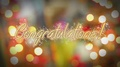 Shiny Congratulations message, birthday, anniversary, New Years Eve greeting 4k or 4k+ Resolution