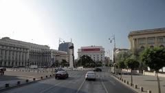 Tracking shot in Revolution Square, Bucharest Stock Footage