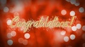 Congratulations message on romantic background, anniversary, wedding greeting 4k or 4k+ Resolution