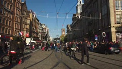 Insanely crowded Amsterdam Stock Footage