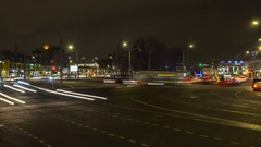 Traffic, evening and night scene  time lapse Stock Footage