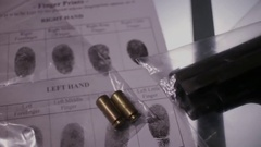 CSI Ballistics gun expertise Stock Footage