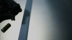 CSI Ballistics gun expertise 2 Stock Footage