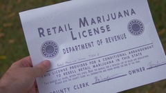 Retail marijuana license colorado Stock Footage