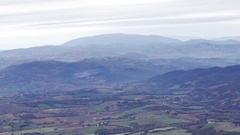 View of Gubbio valley from Mount Cucco in Italy Stock Footage