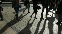 People at Oxford Circus, London, England. Stock Footage