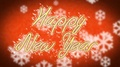 Congratulation message Happy New Year on winter themed background, greeting 4k or 4k+ Resolution