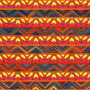 Native seamless watercolor artistic boho style colorful square pattern. Stock Illustration