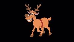 Christmas animated deer on the side  Stock Footage