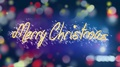 Shiny Merry Christmas message on colorful background, creative greeting, present 4k or 4k+ Resolution