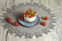 Strawberry Yoghurt & Muesli Stock Photos