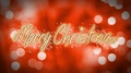 Merry Christmas, creative congratulation message on romantic red background 4k or 4k+ Resolution