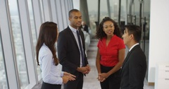 4k, 4k, Shot of businesspeople discussing work in the office. Slow motion. Stock Footage
