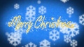 Winter themed Merry Christmas congratulation message, creative shiny greeting 4k or 4k+ Resolution