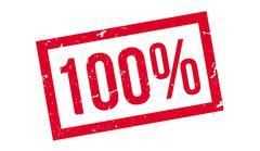 100 percent rubber stamp Stock Illustration