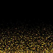 Vector gold glitter particles background effect for luxury greeting rich card Piirros