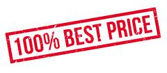 100 percent best price rubber stamp Stock Illustration